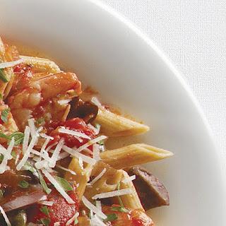 Penne alla Puttanesca with Shrimp
