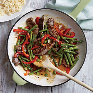 Steak and Asparagus Stir-Fry.