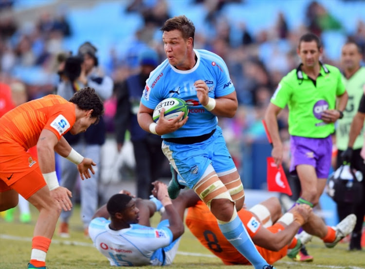 Hanro Liebenberg of the Bulls during the Super Rugby match between Vodacom Bulls and Jaguares at Loftus Versfeld on July 07, 2018 in Pretoria, South Africa.