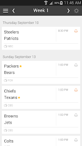 Football NFL Schedules 2016 screenshot 7