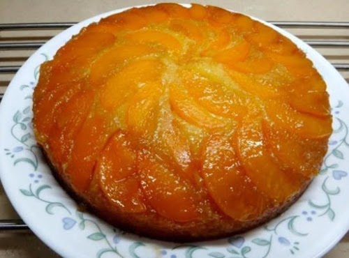 "Peach Upside Down Cake ""Oh my goodness!!! It truly is as good..."