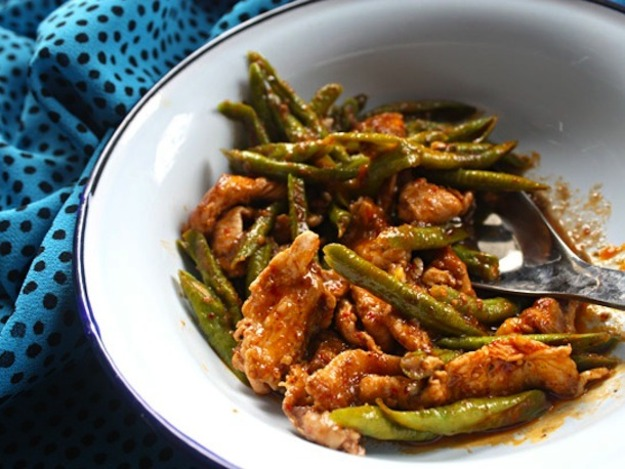 Chicken Red Curry Stir-Fry with Green Beans