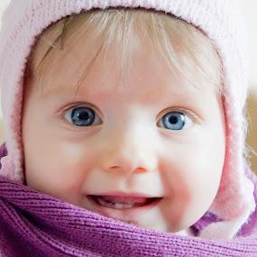 Darinka by Michael Krivoshey - Babies & Children Child Portraits ( face, big eyes, christmas, child portrait, children, kids, cute, people, portrait, newborn )