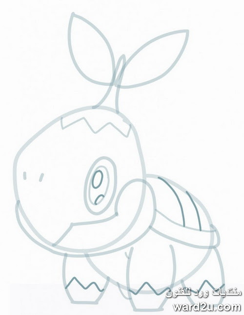 بوكيمون فى خطوات رسم تعليمية مصورة