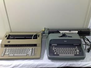 Photo: IBM 6170, and old 1950s IBM Electric typewriter