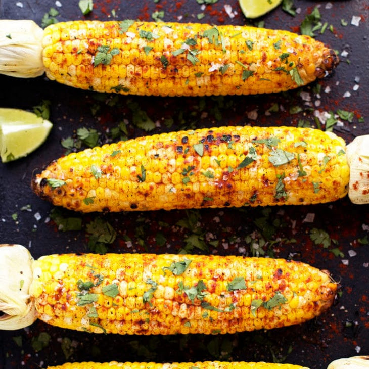 Grilled Cilantro, Lime + Paprika Corn on the Cob Recipe