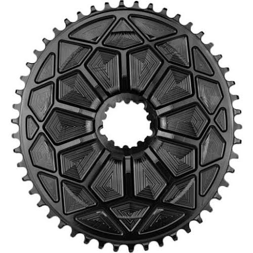Absolute Black Spiderless Aero Road GXP DM Oval Chainring