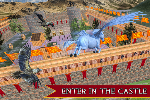 Flying Unicorn Horse Family Jungle Survival 3.0 screenshots 1