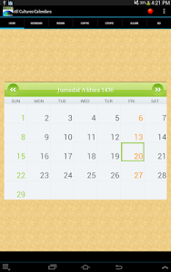 Multi Cultural Calendar screenshot 9