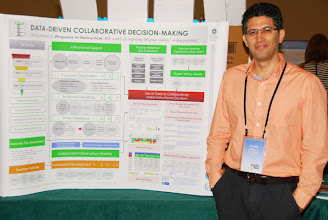 Photo: Photo: Kaveh Abhari at the 2013 Poster Session