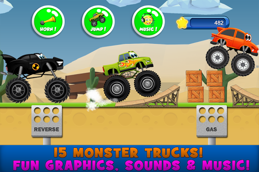 Monster Trucks Game for Kids 2 android2mod screenshots 2
