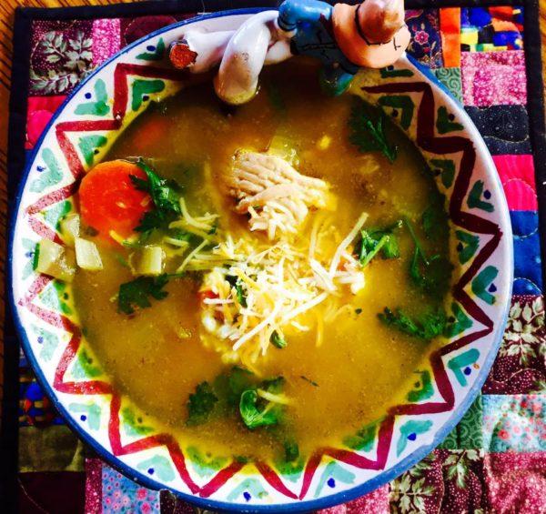 Turkey Cilantro Enchilada Soup Recipe