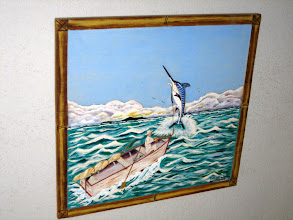 Photo: Another painting illustrating the famous scene from the novel The Old Mand and the Sea