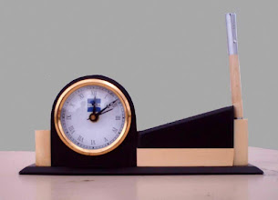 Photo: WOODEN  PENSTAND WITH CLOCK - 2
