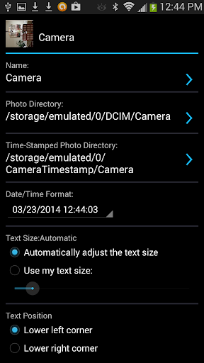 Camera Timestamp Add-on screenshots 2