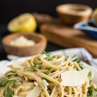 Parmesan Lemon Linguine with Arugula