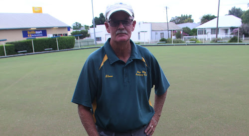 Wee Waa Bowling Club greenkeeper Steve Berger at the club last week.