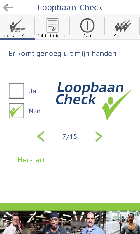 Loopbaan-Check- screenshot