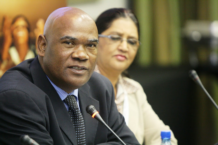 Sports and recreation director-general Vernie Petersen at a media briefing during the Soccer World Cup in June 2010. Eight months later he died suddenly.