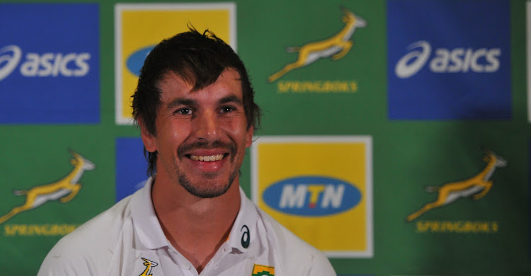 Eben Etzebeth speaks during the Springboks press conference at Southern Sun in Pretoria on July 11 2019.