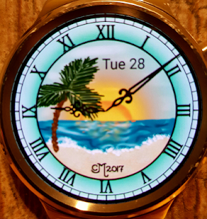 Tropical Sunset Watch Face - náhled