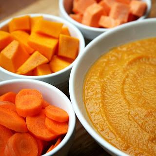 Squash, Sweet Potato, Carrot, and White Bean Soup Recipe