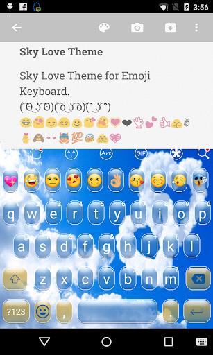 Blue Sky Emoji Keyboard