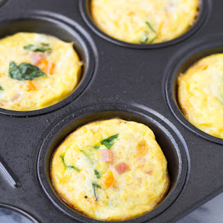 Ham, Cheese, and Veggie Quinoa Frittatas.