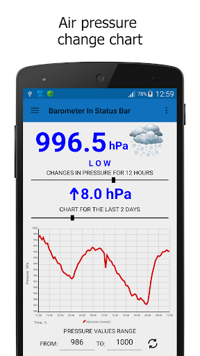 Barometer In Status Bar Lite 2.1.0 screenshots 2