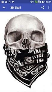 3D Skull - náhled