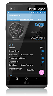Black Glass HD Watch Face - náhled