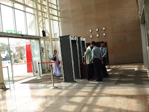 """Photo: Entrance of a shopping mall in Pune. This seems a default setup in any mall in India. I call it """"the Gate of Unwelcome."""" 26th March updated (日本語はこちら) -http://jp.asksiddhi.in/daily_detail.php?id=494"""