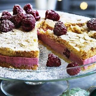 Raspberry Almond Mousse Cake
