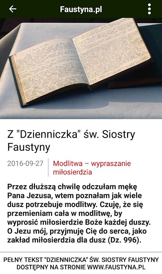 Faustyna.pl- screenshot
