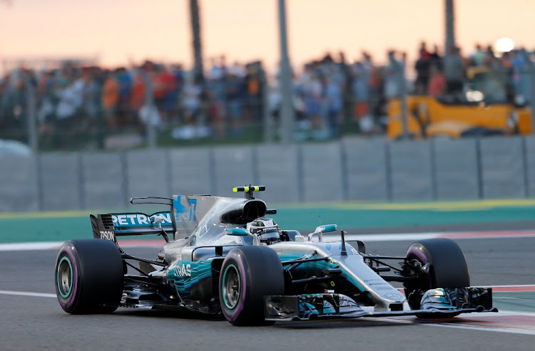 Mercedes' Finnish driver Valtteri Bottas in action at the Abu Dhabi Formula One Grand Prix at the Yas Marina circuit on November 26, 2017. Picture: REUTERS