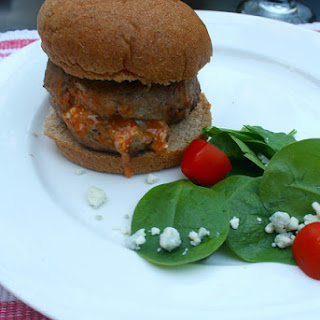 Buffalo & Blue Cheese Stuffed Turkey Burgers Recipe