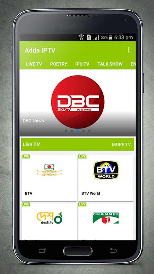 Adda IPTV- screenshot