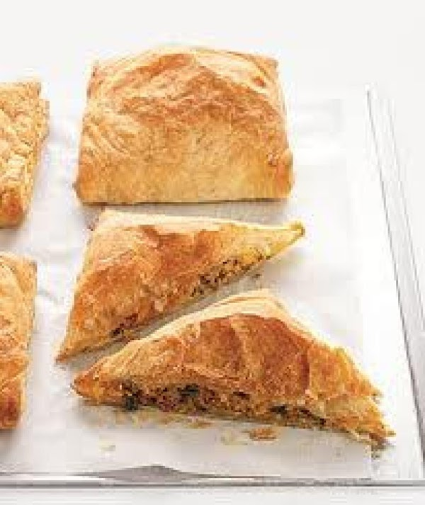 Meat ,potato And Spinach Puffs Recipe