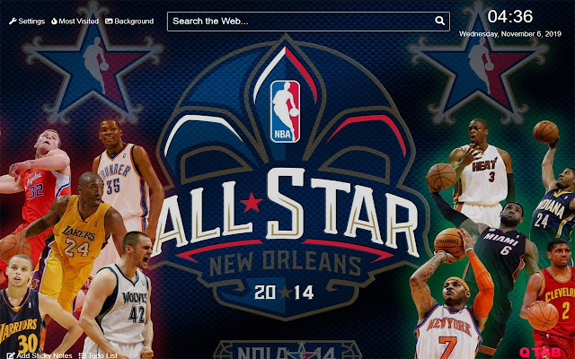 NBA All Stars Wallpapers for New Tab