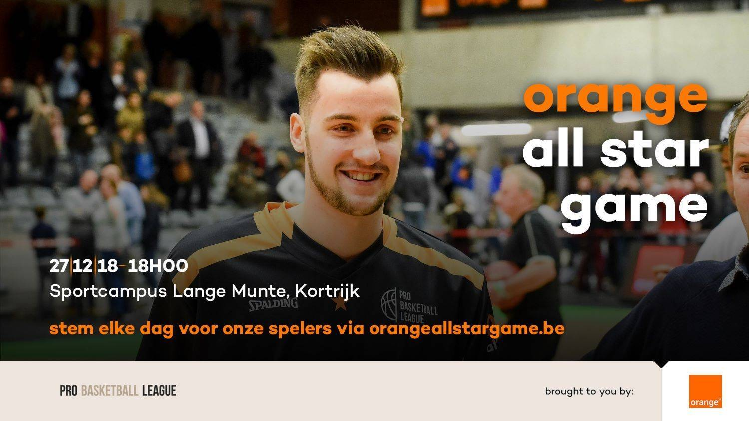 All star game op 27 december. Stem voor onze spelers !!!