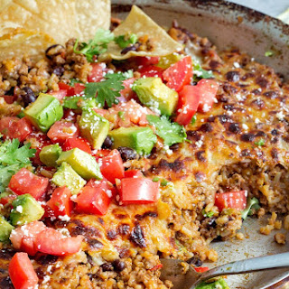 One Skillet Cheesy Mexican Casserole.