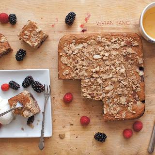 Blackberry Chia Buckle // whole grain, sugar free