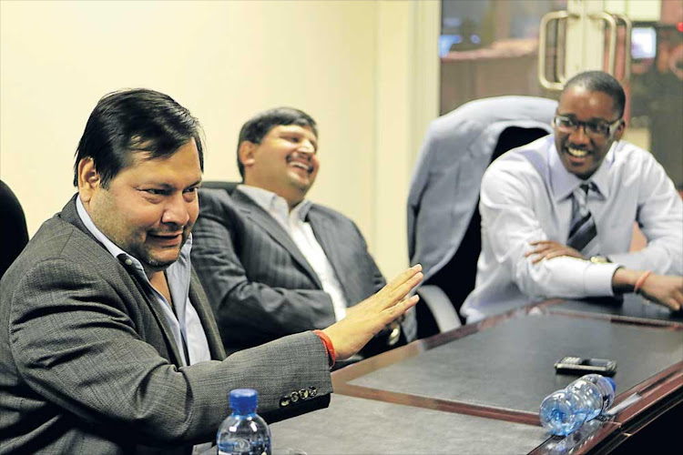 Ajay and Atul Gupta with their partner, Duduzane Zuma.