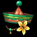 緑のとんがり花帽子B
