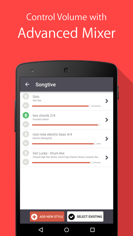 Songtive: Compose on Walk- screenshot