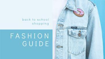 School Fashion Guide - YouTube Thumbnail Template