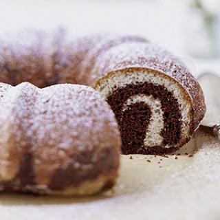 Coffee-Chocolate Marble Cake.