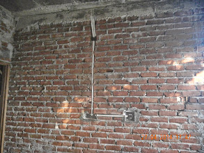 Photo: Electric Conduit, GF Bedroom, Front Wall