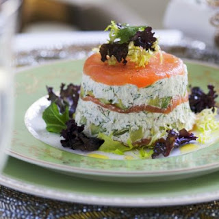 Salmon and Cream Cheese Timbales
