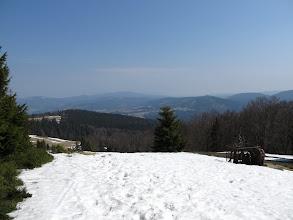 Photo: 19.Schodzimy czerwonym szlakiem w kierunku Bacówki PTTK na Rycerzowej.